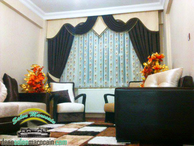 rideau salon marocain incroyable designplafond. Black Bedroom Furniture Sets. Home Design Ideas
